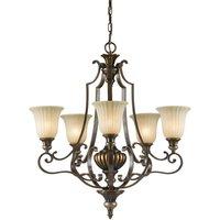 Elstead Kelham Hall - 5 Light Multi Arm Chandelier Bronze, Gold Finish, E27