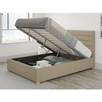 Kelly Ottoman Upholstered Bed, Eire Linen, Natural - Ottoman Bed Size Superking (180x200) - ASPIRE