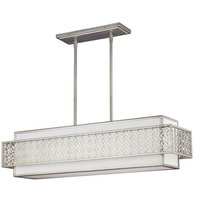 Elstead Lighting - Elstead Kenney - 5 Light Ceiling Island Chandelier Pendant Bar Light Silver, E27