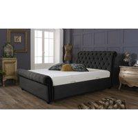Furniturebox Uk - Kensington Asphalt Malia Double Bed Frame