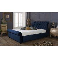 Furniturebox Uk - Kensington Blue Malia Single Bed Frame