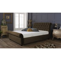 Furniturebox Uk - Kensington Brown Malia Double Bed Frame