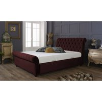 Kensington Burgundy Malia Double Bed Frame