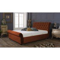 Kensington Burnt Orange Malia Double Bed Frame