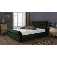 Kensington Forest Green Malia Double Bed Frame
