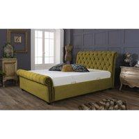 Kensington Mustard Malia Double Bed Frame