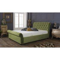 Kensington Olive Green Malia Double Bed Frame