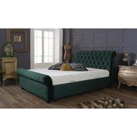 Kensington Teal Malia Double Bed Frame