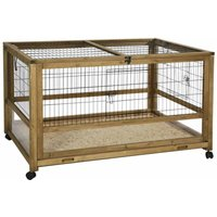 Small Animal Cage for Indoor Space 116x75x70 cm Wood Brown - Kerbl