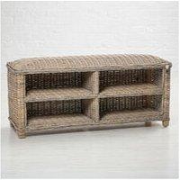 Maine Furniture Co - Key Largo Rattan Shoe Storage Bench