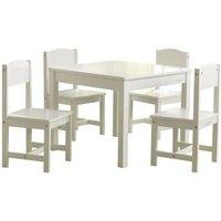 Farmhouse Table with 4 Chairs White - White - Kidkraft