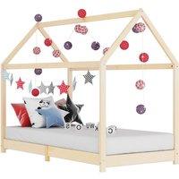 Zqyrlar - Kids Bed Frame Solid Pine Wood 90x200 cm - Brown