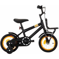 Betterlifegb - Kids Bike with Front Carrier 12 inch Black and Orange38998-Serial number