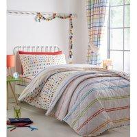 Kids Club Doodle Colourful Duvet Cover Set Single Reversible Bedding Bed Set