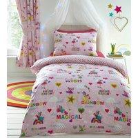 Kids Club Rainbow Fairies Single Childrens Duvet Cover Set Reversible Bedding Set