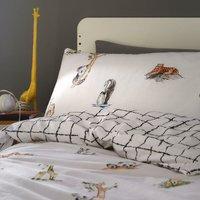 Kids Club Wildlife Single Duvet Set Animal Themed Reversible Duvet Cover Set Bedding Bed Set