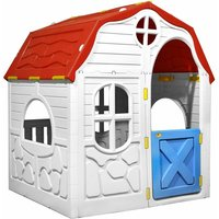 Kids Foldable Playhouse with Working Door and Windows - Multicolour