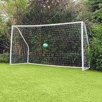 Kids 10ftx6ft White Portable Football Goal - Charles Bentley