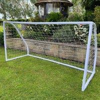 Junior 8ftx4ft Plastic Portable White Football Goal Inc.