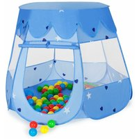 Play tent with 100 balls for kids - kids pop up tent, kids tent, pop up play tent - blue - azul - TECTAKE