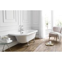 Kildwick Back-to-Wall 1700 x 750mm Freestanding Roll Top Bath - FRONTLINE BATHROOMS