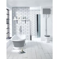 Kilnsey Dusty Grey 1700 x 750mm Freestanding Single-Ended Bath - FRONTLINE BATHROOMS