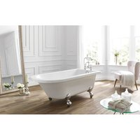 Frontline Bathrooms - Kilnsey Traditional 1700x750mm Freestanding Single-Ended Roll Top Bath
