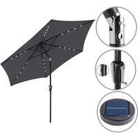 Sun Garden Parasol Lights Solar LED Umbrella Sunshade Patio 3m Shade Aluminium Anthracite
