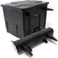 Wiltec - Kit SunSun de Filtration de Bassin Bio Filtre 12000l Stérilisateur UVC 24W