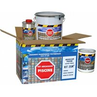 Etanchéité Piscine Carrelée - Résine Transparente - KIT ARCACLEAR PISCINE - ARCANE INDUSTRIES - Transparent - kit 25 m² support poreux