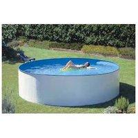 Piscine hors-sol Splasher AQUALUX - acier décor blanc - Ø 3.00m - hauteur 90cm - 104844