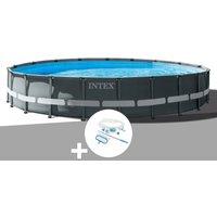 Kit piscine tubulaire Ultra XTR Frame ronde 6,10 x 1,22 m + Kit d'entretien - Intex