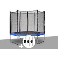 Kit trampoline Atlas Ø 2,44 m Bleu + Kit d'ancrage - Jardideco