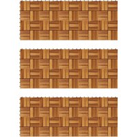 True Deal - Kit tuiles de plancher en acacia 30 x 30 cm 30 pcs