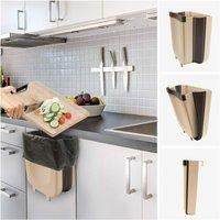Kitchen Bin, Folding Bin, Kitchen Bin, Bathroom Bin, 9 L,