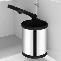 Kitchen Built-in Dust Bin Stainless Steel 12 L - Silver