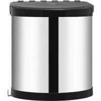 vidaXL Kitchen Built-in Dust Bin Stainless Steel 12 L - Silver