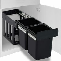 Kitchen Cupboard Pull-out Recycled Dustbin Soft-Close 20 L - ASUPERMALL