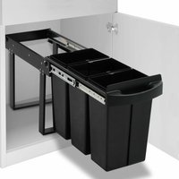 Kitchen Cupboard Pull-out Recycled Dustbin Soft-Close 36 L - YOUTHUP