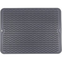 Kitchen Drying Mat, Dish Drainer Mat, Eco-friendly Silicone Drying Mat, Heat Resistant, Non-slip and Dishwasher Safe 40x30cm SOEKAVIA