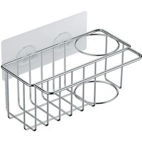 Zqyrlar - Kitchen Sink Holder, 2 in 1 Stainless Steel Sponge Holder, Sink Organizer Basket with Adhesive for Soap, Dishes, Brush, Kitchen Supplies