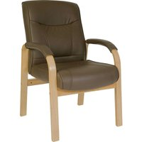 Netfurniture - Klarin Brown Bonded Leather Visitor/Office Chair