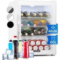 Klarstein - Beersafe XL Quartz Refrigerator 60 litres 4 shelves Panorama glass door