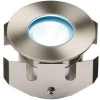 Knightsbridge Blue High Powered LED Stainless Steel Decking Light, IP68 LV 1W