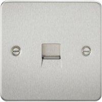 Knightsbridge Switches Socketsandlighting - Knightsbridge Flat Plate Telephone master socket - brushed chrome