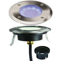 Knightsbridge Blue LED Ground / Deck Light, 230V IP65 1.7W