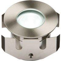 Knightsbridge White High Powered LED Stainless Steel Decking Light, IP68 LV 1W
