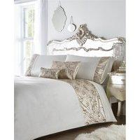 Krista Rose Gold Double Duvet Cover Set Embellished Sequin Bedding