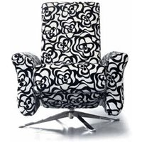 Designer Sofas 4 U - Kuins Fabric Reclining Revolving Designer Chair