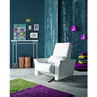 Designer Sofas 4 U - Kuins Leather Reclining Revolving Designer Chair